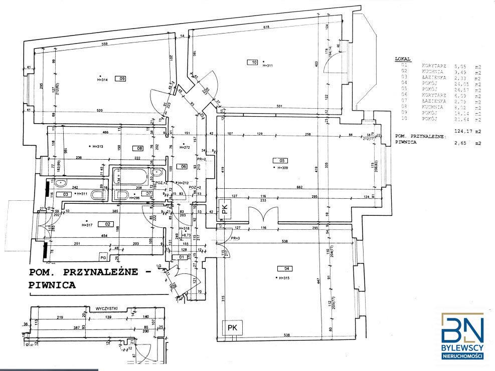 Obraz planu piętra